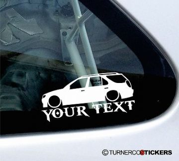 Custom Text / Name ,LOW Peugeot 306 Estate wagon XSi, D-turbo S sticker,Decal